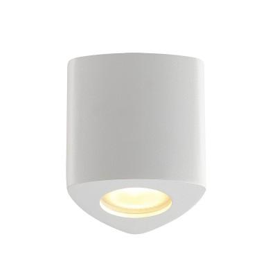 Потолочный накладной светильник Odeon light 3574/1C AQUANAдекоративные светильники<br><br><br>Тип лампы: галогенная/LED - светодиодная<br>Тип цоколя: GU10<br>Цвет арматуры: белый<br>Количество ламп: 1<br>Ширина, мм: 90<br>Длина, мм: 90<br>Высота, мм: 95<br>Поверхность арматуры: матовая<br>Оттенок (цвет): белый<br>MAX мощность ламп, Вт: 50