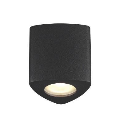 Потолочный накладной светильник Odeon light 3575/1C AQUANAдекоративные светильники<br><br><br>Тип лампы: галогенная/LED - светодиодная<br>Тип цоколя: GU10<br>Цвет арматуры: черный<br>Количество ламп: 1<br>Ширина, мм: 90<br>Длина, мм: 90<br>Высота, мм: 95<br>Поверхность арматуры: матовая<br>Оттенок (цвет): черный<br>MAX мощность ламп, Вт: 50