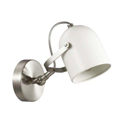 Бра Lumion 3592/1W ARUDLISбра в стиле лофт<br>Светильник серии Arudlis будет идеально смотреться в стильном большом помещении с высокими потолками. Белый цвет каркаса с матовым никелем,  лаконичная форма и минималистичный стиль замечательно подходит в интерьеры в стиле лофт, модерн, минимализм