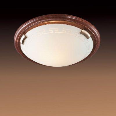 Светильник Сонекс 160 бронза GrecaКруглые<br>Настенно потолочный светильник Сонекс (Sonex) 160 подходит как для установки в вертикальном положении - на стены, так и для установки в горизонтальном - на потолок. Для установки настенно потолочных светильников на натяжной потолок необходимо использовать светодиодные лампы LED, которые экономнее ламп Ильича (накаливания) в 10 раз, выделяют мало тепла и не дадут расплавиться Вашему потолку.<br><br>S освещ. до, м2: 6<br>Тип лампы: накаливания / энергосбережения / LED-светодиодная<br>Тип цоколя: E27<br>Цвет арматуры: бронзовый<br>Количество ламп: 1<br>Диаметр, мм мм: 360<br>MAX мощность ламп, Вт: 100