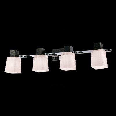 Светильник Idlamp 360/4A Blackchromeсовременные бра модерн<br><br><br>S освещ. до, м2: 16<br>Крепление: Настенные<br>Тип цоколя: E14<br>Цвет арматуры: черный<br>Количество ламп: 4<br>Ширина, мм: 150<br>Длина, мм: 620<br>Расстояние от стены, мм: 170-220<br>Оттенок (цвет): Полупрозрачный<br>MAX мощность ламп, Вт: 60