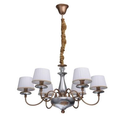 Mw light Каталина 361010906 ЛюстраПодвесные<br><br><br>Установка на натяжной потолок: Да<br>S освещ. до, м2: 12<br>Тип лампы: Накаливания / энергосбережения / светодиодная<br>Тип цоколя: E14<br>Количество ламп: 6<br>Диаметр, мм мм: 720<br>Высота, мм: 380 - 850<br>MAX мощность ламп, Вт: 40