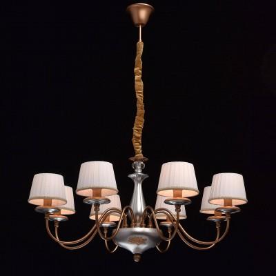 Mw light 361011008 СветильникПодвесные<br><br><br>S освещ. до, м2: 16<br>Тип лампы: Накаливания / энергосбережения / светодиодная<br>Тип цоколя: E14<br>Количество ламп: 8<br>MAX мощность ламп, Вт: 40<br>Диаметр, мм мм: 880<br>Высота, мм: 580 - 850
