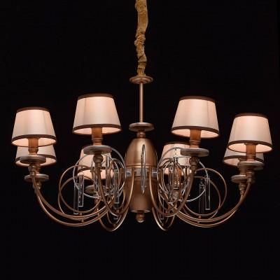Mw light 361011308 СветильникПодвесные<br><br><br>S освещ. до, м2: 16<br>Тип лампы: Накаливания / энергосбережения / светодиодная<br>Тип цоколя: E14<br>Количество ламп: 8<br>MAX мощность ламп, Вт: 40<br>Диаметр, мм мм: 860<br>Высота, мм: 630 - 990