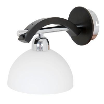 Светильник бра Lamplandia 3636-1 AstraСовременные<br>Классическая модель выполнена из металла цвета хром, с деревянными вставками цвета Венге<br><br>S освещ. до, м2: 2<br>Крепление: настенный<br>Тип цоколя: E14<br>Количество ламп: 1<br>MAX мощность ламп, Вт: 40<br>Цвет арматуры: серый