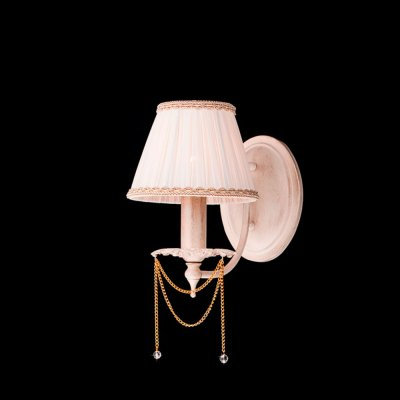 Светильник Eurosvet 3645/1 белый с золотом/прозрачный хрустальКлассика<br><br><br>S освещ. до, м2: 4<br>Тип лампы: накаливания / энергосбережения / LED-светодиодная<br>Тип цоколя: E14<br>Количество ламп: 1<br>Ширина, мм: 170<br>MAX мощность ламп, Вт: 60<br>Расстояние от стены, мм: 200<br>Высота, мм: 250<br>Цвет арматуры: бежевый с золотистой патиной