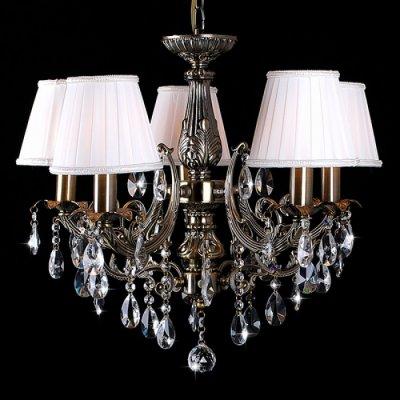 Люстра Eurosvet 3646/5 античная бронза/прозрачный хрустальПодвесные<br><br><br>Установка на натяжной потолок: Да<br>S освещ. до, м2: 20<br>Крепление: Крюк<br>Тип товара: Люстра подвесная<br>Тип лампы: накаливания / энергосбережения / LED-светодиодная<br>Тип цоколя: E14<br>Количество ламп: 5<br>MAX мощность ламп, Вт: 60<br>Диаметр, мм мм: 560<br>Высота, мм: 630 - 1000