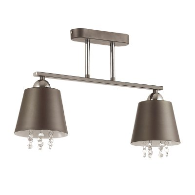 Люстра потолочная Lumion 3647/2C HANNAHОжидается<br><br><br>Тип цоколя: E27<br>Цвет арматуры: серый<br>Количество ламп: 2<br>MAX мощность ламп, Вт: 40