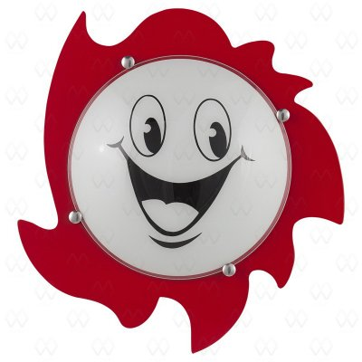 Светильник настенный бра Mw light 365013803 УлыбкаДля детской<br>Металлическое крепление, основание из крашенного МДФ, стеклянный матовый плафон с детским рисунком.<br><br>S освещ. до, м2: 6<br>Тип лампы: накаливания / энергосбережения / LED-светодиодная<br>Тип цоколя: E27<br>Цвет арматуры: красный<br>Количество ламп: 3<br>Диаметр, мм мм: 400<br>Высота, мм: 120<br>Поверхность арматуры: матовый<br>MAX мощность ламп, Вт: 40<br>Общая мощность, Вт: 120
