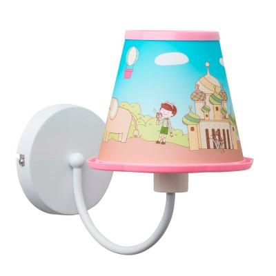 Светильник настенный бра Mw light 365025501 УлыбкаДля детской<br>Описание модели 365025501: Яркий и красочный светильник из коллекции Улыбка создан для общего освещения детской комнаты. Абажур у этого бра изготовлены из облегчённого пластика с задорным детским принтом. Рекомендуемая площадь освещения красочного светильника из коллекции Улыбка составляет около 2 кв.м.<br><br>S освещ. до, м2: 2<br>Тип лампы: накаливания / энергосберегающая / светодиодная<br>Тип цоколя: E14<br>Цвет арматуры: белый<br>Количество ламп: 1<br>Ширина, мм: 260<br>Длина, мм: 240<br>Высота, мм: 200<br>Поверхность арматуры: матовый<br>MAX мощность ламп, Вт: 40<br>Общая мощность, Вт: 40