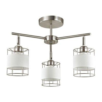 Люстра потолочная Lumion 3665/3C KAYDENОжидается<br><br><br>Тип цоколя: E14<br>Цвет арматуры: никель<br>Количество ламп: 3<br>Поверхность арматуры: матовый<br>MAX мощность ламп, Вт: 60