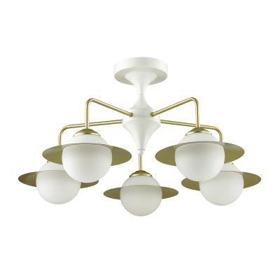 Люстра потолочная Lumion 3666/5C PRISCILLAОжидается<br><br><br>Тип цоколя: E14<br>Цвет арматуры: белый/золотой<br>Количество ламп: 5<br>MAX мощность ламп, Вт: 60