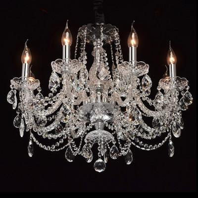 Mw light 367014908 СветильникПодвесные<br><br><br>Установка на натяжной потолок: Да<br>S освещ. до, м2: 16<br>Тип лампы: Накаливания / энергосбережения / светодиодная<br>Тип цоколя: E14<br>Цвет арматуры: серебристый<br>Количество ламп: 8<br>Диаметр, мм мм: 650<br>Высота, мм: 680 - 1200<br>MAX мощность ламп, Вт: 40