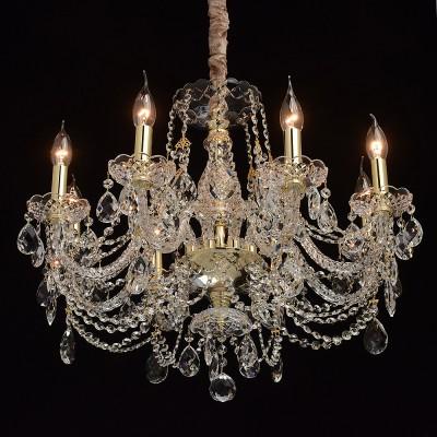 Mw light 367015008 СветильникПодвесные<br><br><br>S освещ. до, м2: 16<br>Тип лампы: Накаливания / энергосбережения / светодиодная<br>Тип цоколя: E14<br>Количество ламп: 8<br>MAX мощность ламп, Вт: 40<br>Диаметр, мм мм: 650<br>Высота, мм: 680 - 1200<br>Цвет арматуры: золотой