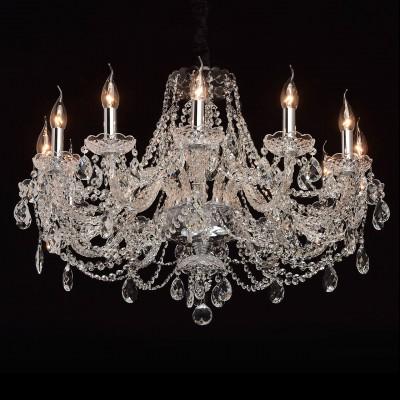 Mw light 367015112 СветильникПодвесные<br><br><br>Установка на натяжной потолок: Да<br>S освещ. до, м2: 24<br>Тип лампы: Накаливания / энергосбережения / светодиодная<br>Тип цоколя: E14<br>Количество ламп: 12<br>Диаметр, мм мм: 750<br>Высота, мм: 850 - 1200<br>MAX мощность ламп, Вт: 40