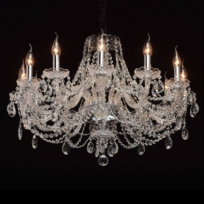 Mw light 367015112 СветильникПодвесные<br><br><br>S освещ. до, м2: 24<br>Тип лампы: Накаливани / нергосбережени / светодиодна<br>Тип цокол: E14<br>Количество ламп: 12<br>MAX мощность ламп, Вт: 40<br>Диаметр, мм мм: 750<br>Высота, мм: 850 - 1200