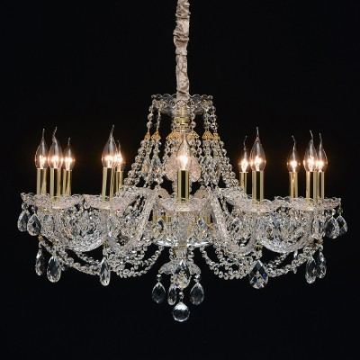 Mw light 367015212 Светильникподвесные хрустальные люстры<br><br><br>Установка на натяжной потолок: Да<br>S освещ. до, м2: 24<br>Тип лампы: Накаливания / энергосбережения / светодиодная<br>Тип цоколя: E14<br>Количество ламп: 12<br>Диаметр, мм мм: 750<br>Высота, мм: 850 - 1200<br>MAX мощность ламп, Вт: 40