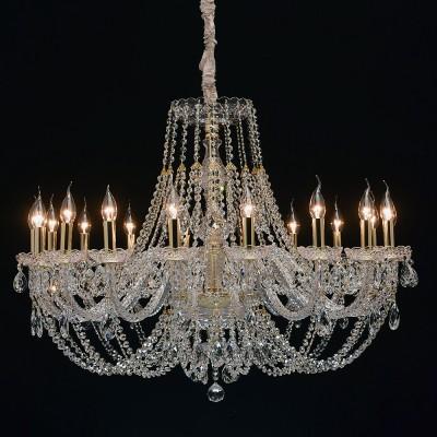 Mw light 367015418 СветильникПодвесные<br><br><br>Установка на натяжной потолок: Да<br>S освещ. до, м2: 36<br>Тип лампы: Накаливания / энергосбережения / светодиодная<br>Тип цоколя: E14<br>Количество ламп: 18<br>Диаметр, мм мм: 960<br>Высота, мм: 1150 - 1500<br>MAX мощность ламп, Вт: 40