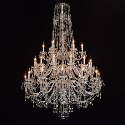 Mw light 367015530 Светильникподвесные хрустальные люстры<br><br><br>Установка на натяжной потолок: Да<br>S освещ. до, м2: 60<br>Тип лампы: Накаливания / энергосбережения / светодиодная<br>Тип цоколя: E14<br>Количество ламп: 30<br>Диаметр, мм мм: 1100<br>Высота, мм: 1800 - 2250<br>MAX мощность ламп, Вт: 40
