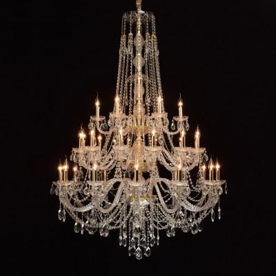 367015630 CHIARO СветильникПодвесные<br><br><br>S освещ. до, м2: 60<br>Тип лампы: Накаливания / энергосбережения / светодиодная<br>Тип цоколя: E14<br>Цвет арматуры: золотой<br>Количество ламп: 30<br>Диаметр, мм мм: 1100<br>Высота, мм: 2250<br>MAX мощность ламп, Вт: 40