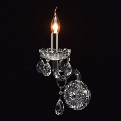 Mw light Каролина 367024501 Светильник браХрустальные<br><br><br>Тип лампы: Накаливания / энергосбережения / светодиодная<br>Тип цоколя: E14<br>Количество ламп: 1<br>Ширина, мм: 120<br>MAX мощность ламп, Вт: 40<br>Длина, мм: 320<br>Высота, мм: 260<br>Цвет арматуры: серебристый