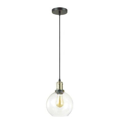 Светильник Lumion 3684/1одиночные подвесные светильники<br>Подвес Kit с плафоном из прозрачного стекла с декоративным элементом в цвете античной бронзы - модный и эффектный акцент в интерьере лофт или винтаж.