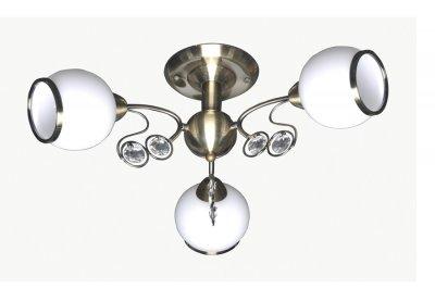 Люстра Lamplandia 3690-3 NinaПотолочные<br>Современная люстра с основанием из металла антично бронзового цвета .Плафоны  выполнены из  декоративного матового  стекла<br><br>Установка на натяжной потолок: Да<br>S освещ. до, м2: 12<br>Крепление: Планка<br>Тип лампы: накаливания / энергосбережения / LED-светодиодная<br>Тип цоколя: E14<br>Цвет арматуры: бронзовый<br>Количество ламп: 3<br>Ширина, мм: 440<br>Длина, мм: 540<br>Высота, мм: 230<br>MAX мощность ламп, Вт: 40