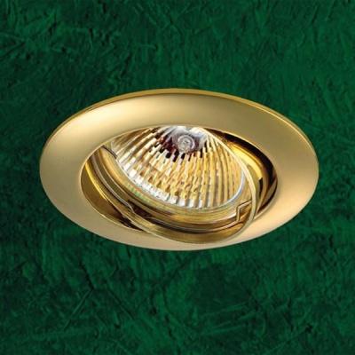 Точечный светильник 369102 Novotech золото ПВ GX5.3 50W 12V CrownКруглые<br>Светильники поворотные для низковольтных галогенных ламп. Материал: алюминиевое литье.<br><br>S освещ. до, м2: 3<br>Тип товара: Точечный встраиваемый светильник<br>Тип лампы: галогенная<br>Тип цоколя: GU5.3 (MR16)<br>Количество ламп: 1<br>MAX мощность ламп, Вт: 50<br>Диаметр, мм мм: 82<br>Диаметр врезного отверстия, мм: 75<br>Высота, мм: 27<br>Цвет арматуры: Золотой