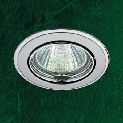 Точечный светильник 369104 Novotech м хром ПВ GX5.3 50W 12V CrownКруглые<br>Светильники поворотные для низковольтных галогенных ламп. Материал: алюминиевое литье.<br><br>S освещ. до, м2: 3<br>Тип товара: Точечный встраиваемый светильник<br>Тип лампы: галогенная<br>Тип цоколя: GU5.3 (MR16)<br>Количество ламп: 1<br>MAX мощность ламп, Вт: 50<br>Диаметр, мм мм: 82<br>Диаметр врезного отверстия, мм: 75<br>Высота, мм: 27<br>Цвет арматуры: серебристый