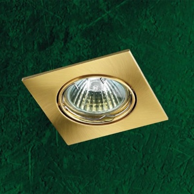 Точечный светильник 369107 Novotech матовое золото Quadro