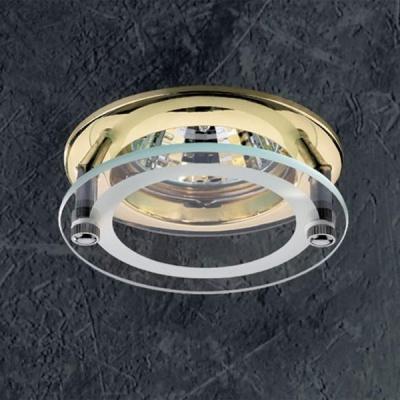 Светильник Novotech 369108 латунь RoundКруглые<br>Светильники для низковольтных галогенных ламп. Материал: алюминиевое литье/стекло.<br><br>S освещ. до, м2: 3<br>Тип товара: Встраиваемый светильник<br>Тип лампы: галогенная<br>Тип цоколя: GU5.3 (MR16)<br>Количество ламп: 1<br>MAX мощность ламп, Вт: 50<br>Диаметр, мм мм: 78<br>Диаметр врезного отверстия, мм: 60<br>Высота, мм: 45<br>Цвет арматуры: латунь