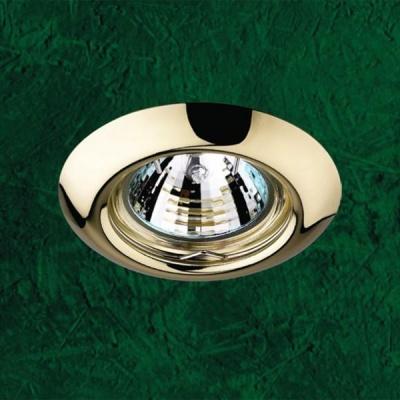 Точечный светильник 369113 Novotech золото НП GX5.3 50W 12V TorКруглые<br>Светильники неповоротные для низковольтных галогенных ламп. Материал: штампованная сталь.<br><br>S освещ. до, м2: 3<br>Тип товара: Точечный встраиваемый светильник<br>Тип лампы: галогенная<br>Тип цоколя: GU5.3 (MR16)<br>Количество ламп: 1<br>MAX мощность ламп, Вт: 50<br>Диаметр, мм мм: 80<br>Диаметр врезного отверстия, мм: 60<br>Высота, мм: 40<br>Цвет арматуры: Золотой