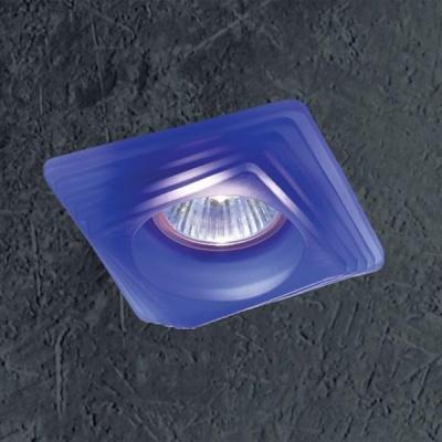Novotech GLASS 369129 Встраиваемый светильникКвадратные<br>Светильники для низковольтных галогенных ламп. Материал: штампованная сталь/стекло.<br><br>S освещ. до, м2: 3<br>Тип лампы: галогенная<br>Тип цоколя: GU5.3 (MR16)<br>Количество ламп: 1<br>Ширина, мм: 98<br>MAX мощность ламп, Вт: 50<br>Диаметр врезного отверстия, мм: 72<br>Длина, мм: 98<br>Высота, мм: 70<br>Цвет арматуры: синий