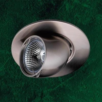 Novotech BEST 369163 Точечный встраиваемый светильникКруглые<br>Светильники поворотные для низковольтных галогенных ламп. Материал: алюминиевое литье. Напряжение: - 12V или 220V. IP 20<br><br>S освещ. до, м2: 3<br>Тип лампы: галогенная<br>Тип цоколя: GU5.3 (MR16)<br>Количество ламп: 1<br>MAX мощность ламп, Вт: 50<br>Диаметр, мм мм: 110<br>Диаметр врезного отверстия, мм: 95<br>Высота, мм: 130<br>Цвет арматуры: серебристый