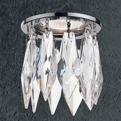 Светильник Novotech 369259 хром CrystalsХрустальные<br>Светильники для низковольтных галогенных ламп. Материал: алюминиевое литье. Хрусталь. Напряжение: цоколь GX5.3, G4 - 12V или 220V, цоколь G9 - 220V.<br><br>S освещ. до, м2: 3<br>Тип товара: Встраиваемый светильник<br>Тип лампы: галогенная<br>Тип цоколя: GU5.3 (MR16)<br>Количество ламп: 1<br>MAX мощность ламп, Вт: 50<br>Диаметр, мм мм: 80<br>Диаметр врезного отверстия, мм: 55<br>Высота, мм: 137<br>Оттенок (цвет): хрусталь<br>Цвет арматуры: серебристый