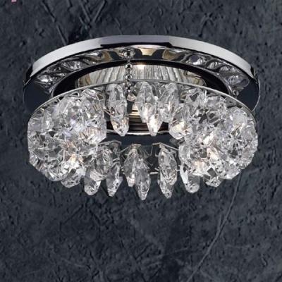 Светильник Novotech 369269 хром CrystalsХрустальные<br>Светильники для низковольтных галогенных ламп. Материал: алюминиевое литье. Хрусталь.<br><br>S освещ. до, м2: 3<br>Тип товара: Встраиваемый светильник<br>Тип лампы: галогенная<br>Тип цоколя: GU5.3 (MR16)<br>Количество ламп: 1<br>MAX мощность ламп, Вт: 50<br>Диаметр, мм мм: 91<br>Диаметр врезного отверстия, мм: 68<br>Высота, мм: 46<br>Оттенок (цвет): хрусталь<br>Цвет арматуры: серебристый
