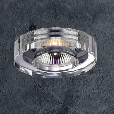 Novotech CRYSTAL 369275 Встраиваемый светильникКруглые<br>Светильники для низковольтных галогенных ламп. Материал: алюминиевое литье. Хрусталь. Напряжение: цоколь GX5.3, G4 - 12V или 220V, цоколь G9 - 220V.<br><br>S освещ. до, м2: 3<br>Тип лампы: галогенная<br>Тип цоколя: GU5.3 (MR16)<br>Количество ламп: 1<br>MAX мощность ламп, Вт: 50<br>Диаметр, мм мм: 80<br>Диаметр врезного отверстия, мм: 62<br>Высота, мм: 65<br>Оттенок (цвет): хрусталь<br>Цвет арматуры: серебристый