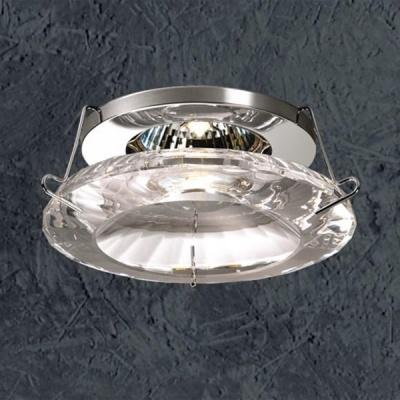 Novotech GLORY 369286 Встраиваемый светильникХрустальные<br>Светильники для низковольтных галогенных ламп. Материал: алюминиевое литье. Хрусталь.<br><br>S освещ. до, м2: 3<br>Тип лампы: галогенная<br>Тип цоколя: GU5.3 (MR16)<br>Количество ламп: 1<br>MAX мощность ламп, Вт: 50<br>Диаметр, мм мм: 113<br>Диаметр врезного отверстия, мм: 68<br>Высота, мм: 57<br>Оттенок (цвет): прозрачный хрусталь