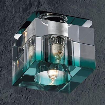 Novotech AQUARELLE 369296 Встраиваемый светильникКвадратные<br>Светильники для низковольтных галогенных ламп. Материал: алюминиевое литье. Хрусталь. Напряжение: цоколь GX5.3, G4 - 12V или 220V, цоколь G9 - 220V.<br><br>S освещ. до, м2: 2<br>Тип лампы: галогенная<br>Тип цоколя: G9<br>Количество ламп: 1<br>MAX мощность ламп, Вт: 40<br>Диаметр, мм мм: 70<br>Диаметр врезного отверстия, мм: 53<br>Высота, мм: 70<br>Цвет арматуры: серебристый