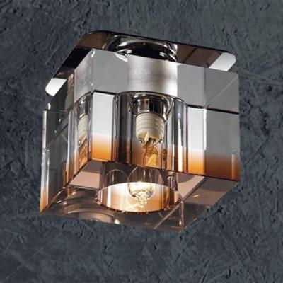 Светильник Novotech 369297 хрустальКвадратные<br>Светильники для низковольтных галогенных ламп. Материал: алюминиевое литье. Хрусталь. Напряжение: цоколь GX5.3, G4 - 12V или 220V, цоколь G9 - 220V.<br><br>S освещ. до, м2: 2<br>Тип товара: Встраиваемый светильник<br>Тип лампы: галогенная<br>Тип цоколя: G9<br>Количество ламп: 1<br>MAX мощность ламп, Вт: 40<br>Диаметр, мм мм: 70<br>Диаметр врезного отверстия, мм: 53<br>Высота, мм: 70<br>Цвет арматуры: серебристый