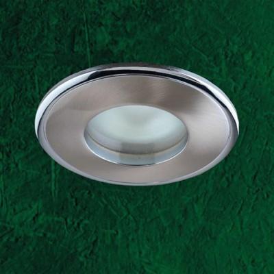 Светильник встраиваемый Novotech 369302 никель AquaВлагозащищенные<br>Светильники с защитным стеклом для низковольтных галогенных ламп. Материал: алюминевое литье. Напряжение: - 12V. IP 65<br><br>S освещ. до, м2: 3<br>Тип товара: Встраиваемый светильник<br>Тип лампы: галогенная<br>Тип цоколя: GU5.3 (MR16)<br>Количество ламп: 1<br>MAX мощность ламп, Вт: 50<br>Диаметр, мм мм: 85<br>Диаметр врезного отверстия, мм: 74<br>Высота, мм: 82<br>Цвет арматуры: серебристый