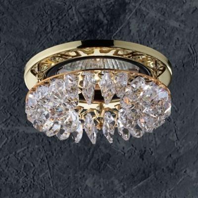Светильник Novotech 369334 золото CrystalsХрустальные<br><br><br>S освещ. до, м2: 3<br>Тип товара: Встраиваемый светильник<br>Тип лампы: галогенная<br>Тип цоколя: GU5.3 (MR16)<br>Количество ламп: 1<br>MAX мощность ламп, Вт: 50<br>Диаметр, мм мм: 91<br>Диаметр врезного отверстия, мм: 68<br>Высота, мм: 46<br>Оттенок (цвет): прозрачный<br>Цвет арматуры: Золотой