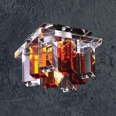Светильник Novotech 369368 хром CrystalsКвадратные<br><br><br>S освещ. до, м2: 2<br>Тип товара: Встраиваемый светильник<br>Тип лампы: галогенная<br>Тип цоколя: G9<br>Количество ламп: 1<br>Ширина, мм: 85<br>MAX мощность ламп, Вт: 40<br>Диаметр врезного отверстия, мм: 55<br>Длина, мм: 85<br>Высота, мм: 70<br>Оттенок (цвет): прозрачно-янтарный<br>Цвет арматуры: серебристый