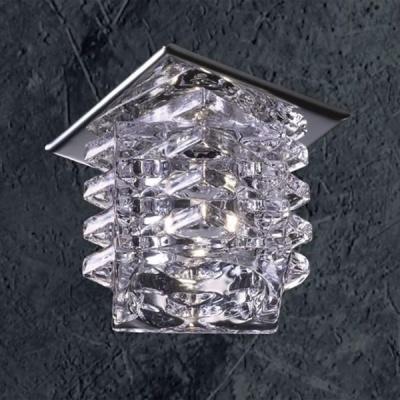 Novotech CRYSTAL 369375 Встраиваемый светильникКвадратные<br>Декоративный встраиваемый светильник модели Novotech 369375 из серии CRYSTAL отличается следующим качеством: Основание светильника сделано из металла. Это популярный и востребованный материал благодаря ряду качеств. К ним относится: повышенная прочность, износостойкость и долговечность. Декоративный плафон произведен из хрусталя. Он обладает высоким показателем плотности, прозрачности и блеска. Благодаря содержанию свинца (не менее 30%) и определённому подбору углов, образуемых гранями, изделия из хрусталя отличаются необыкновенно яркой, многоцветной игрой света, чарующей магией красоты, совершенства и роскоши.<br><br>S освещ. до, м2: 2<br>Тип лампы: галогенная<br>Тип цоколя: G4<br>Количество ламп: 1<br>MAX мощность ламп, Вт: 20<br>Диаметр, мм мм: 70<br>Диаметр врезного отверстия, мм: 45<br>Высота, мм: 80<br>Цвет арматуры: серебристый