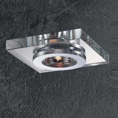 Светильник Novotech 369408 хром VetroКвадратные<br><br><br>S освещ. до, м2: 3<br>Тип товара: Встраиваемый светильник<br>Тип лампы: галогенная<br>Тип цоколя: GU5.3 (MR16)<br>Количество ламп: 1<br>MAX мощность ламп, Вт: 50<br>Диаметр, мм мм: 110<br>Диаметр врезного отверстия, мм: 55<br>Высота, мм: 50<br>Оттенок (цвет): белый<br>Цвет арматуры: серебристый