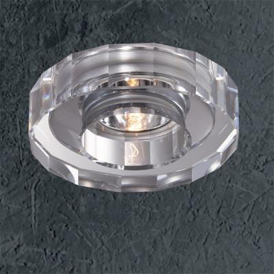 Светильник Novotech 369412 хром VetroКруглые<br><br><br>S освещ. до, м2: 2<br>Тип товара: Встраиваемый светильник<br>Тип лампы: галогенная<br>Тип цоколя: G9<br>Количество ламп: 1<br>Ширина, мм: 105<br>MAX мощность ламп, Вт: 40<br>Диаметр врезного отверстия, мм: 65<br>Длина, мм: 105<br>Высота, мм: 75<br>Цвет арматуры: серебристый