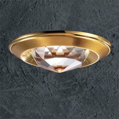 Светильник Novotech 369428 золото CrystalsКруглые<br><br><br>S освещ. до, м2: 3<br>Тип товара: Встраиваемый светильник<br>Тип лампы: галогенная<br>Тип цоколя: GU5.3 (MR16)<br>Количество ламп: 1<br>MAX мощность ламп, Вт: 50<br>Диаметр, мм мм: 80<br>Диаметр врезного отверстия, мм: 65<br>Высота, мм: 40<br>Цвет арматуры: Золотой