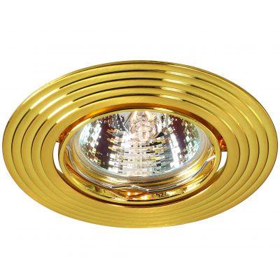 Novotech ANTIC 369433 Точечный встраиваемый светильникКруглые<br>Встраиваемый поворотный светильник модели Novotech 369433 из серии ANTIC отличается следующим качеством: Светильник сделан из алюминиевого литья. Это сплав, основными  достоинствами которого являются — устойчивость к практически всем видам негативного воздействия окружающей среды, коррозии, небольшой вес, по сравнению с другими видами металла и   экологическая безопасность материала.<br><br>S освещ. до, м2: 2<br>Тип лампы: галогенная<br>Тип цоколя: GU5.3 (MR16)<br>MAX мощность ламп, Вт: 50<br>Диаметр, мм мм: 93<br>Диаметр врезного отверстия, мм: 75<br>Расстояние от стены, мм: 2<br>Высота, мм: 27<br>Цвет арматуры: Золотой