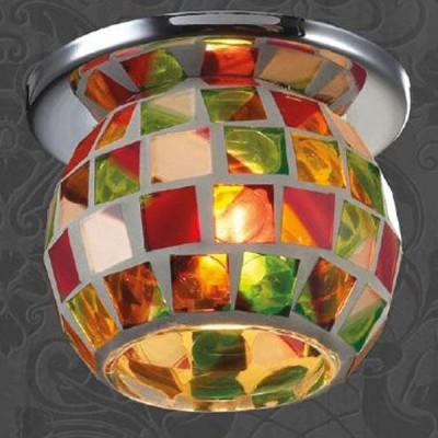 Светильник Novotech 369464 хром VitrageКруглые<br><br><br>S освещ. до, м2: 2<br>Тип товара: Встраиваемый светильник<br>Тип лампы: галогенная<br>Тип цоколя: G9<br>MAX мощность ламп, Вт: 40<br>Диаметр, мм мм: 75<br>Диаметр врезного отверстия, мм: 60<br>Высота, мм: 90<br>Оттенок (цвет): цветной<br>Цвет арматуры: серебристый