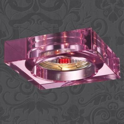 Novotech GLASS 369484 Встраиваемый светильникКвадратные<br>Встраиваемые светильники – популярное осветительное оборудование, которое можно использовать в качестве основного источника или в дополнение к люстре. Они позволяют создать нужную атмосферу атмосферу и привнести в интерьер уют и комфорт.   Интернет-магазин «Светодом» предлагает стильный встраиваемый светильник Novotech 369484. Данная модель достаточно универсальна, поэтому подойдет практически под любой интерьер. Перед покупкой не забудьте ознакомиться с техническими параметрами, чтобы узнать тип цоколя, площадь освещения и другие важные характеристики.   Приобрести встраиваемый светильник Novotech 369484 в нашем онлайн-магазине Вы можете либо с помощью «Корзины», либо по контактным номерам. Мы развозим заказы по Москве, Екатеринбургу и остальным российским городам.<br><br>S освещ. до, м2: 2<br>Тип лампы: галогенная<br>Тип цоколя: GU5.3 (MR16)<br>Ширина, мм: 85<br>MAX мощность ламп, Вт: 50<br>Диаметр врезного отверстия, мм: 65<br>Длина, мм: 85<br>Высота, мм: 35<br>Цвет арматуры: розовый